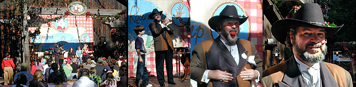 Johnny Ace Palmer magic at Disneyland's Santa's Reindeer Roundup
